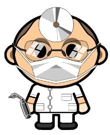 รูปการ์ตูน หมอจะตรวจโรค