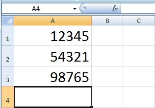 แยกข้อมูลออกจากกันในช่องเซลล์แต่ละช่อง Excel 2007, 2010