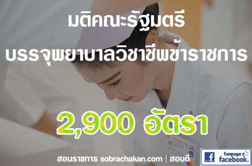 บรรจุพยาบาลวิชาชีพข้าราชการ 2562